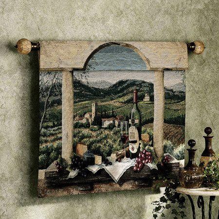 Vin de Provence Wall Tapestry