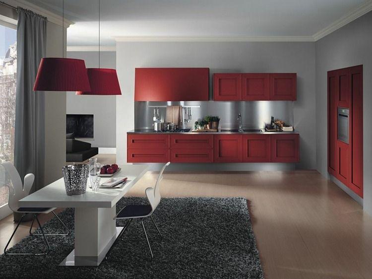 Idées Originales Pour La Déco Cuisine Rouge à Vous Faire Découvrir - Deco moderne salle a manger pour idees de deco de cuisine