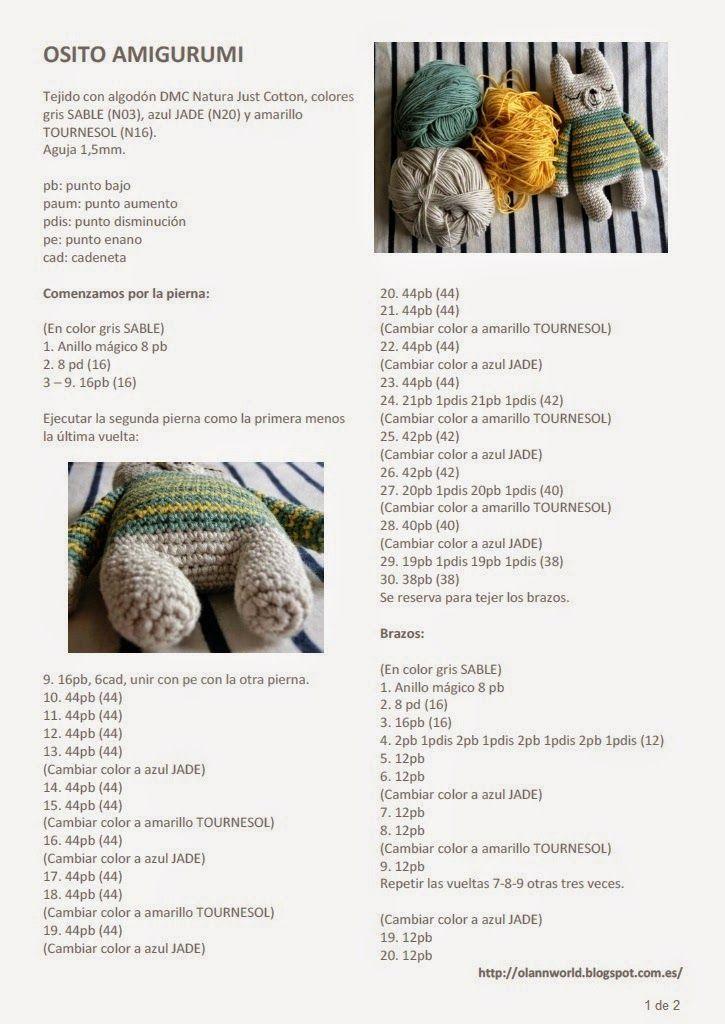 maia_knit: Osito amigurumi a rayas | Amigurumi | Pinterest ...