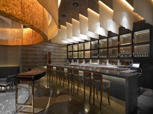 bar interiors design 2. Bar \u0026 Restaurant, Marvelous Hotel And Resort Contemporary Restaurant Design With Lightning System Installation Wonderful Application Idea Of Interior Interiors 2 U
