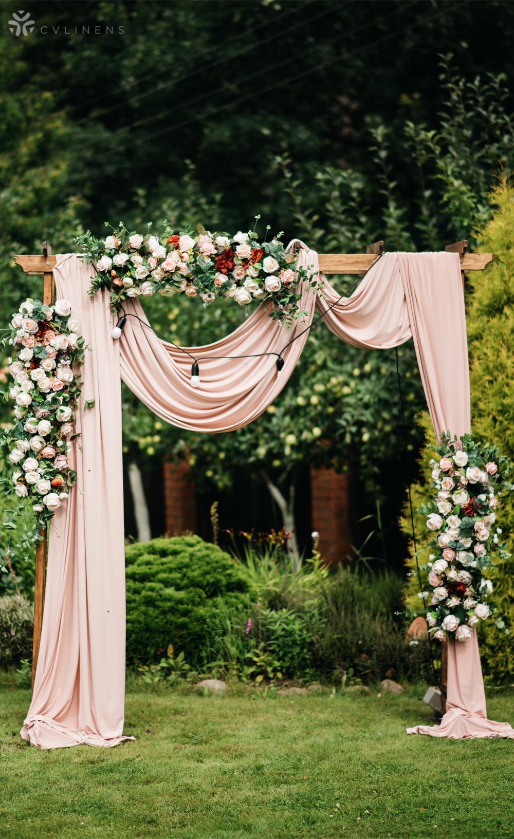Chiffon Fabric Bolt 58 X 10 Yards Dusty Rose Mauve In 2020 Wedding Arch Flowers Blush Wedding Centerpieces Wedding Arches Outdoors