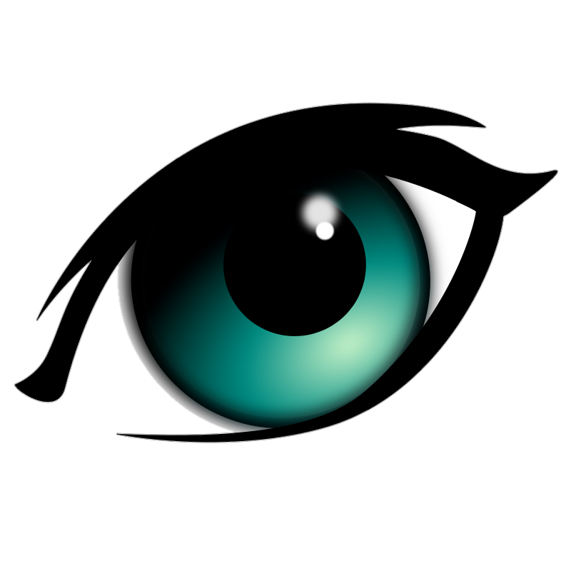 PNG blue eye PNG Eye anime cartoon logo LinkPicture