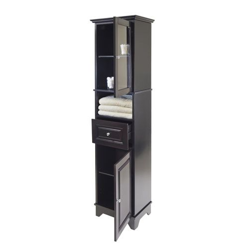 Winsome Wood Alps Tall Cabinet W Glass Door And Drawer 20871