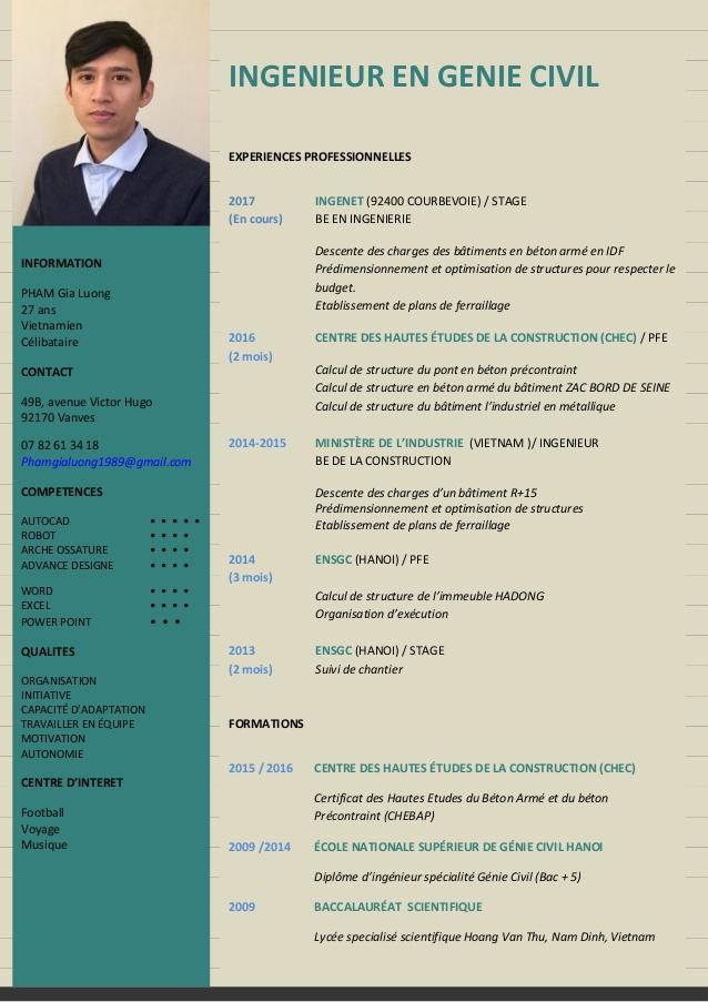 Cv Ingenieur De Batiment Genies How To Plan Linkedin Profile