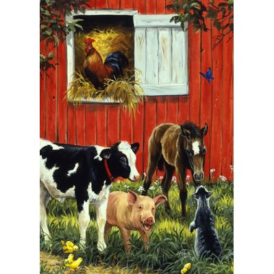Pin By Cammie Beer On Farm Kitchen Animal Mural Cross Paintings Farm Animals