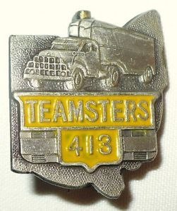 teamster union trucks | Vintage Teamsters Union Truck Pin