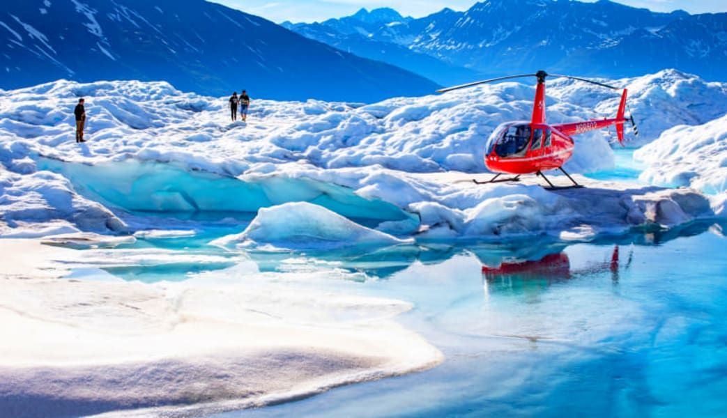 Buy Cheap Dog Sled Ride Alaska with Helicopter Flight