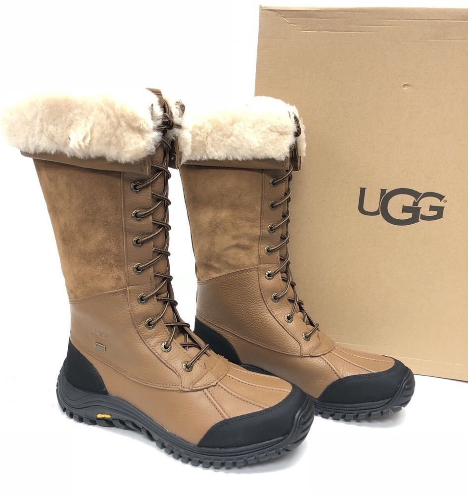 8af6de21a86 UGG Australia ADIRONDACK TALL WATERPROOF SHEEPWOOL BOOTS Leather ...