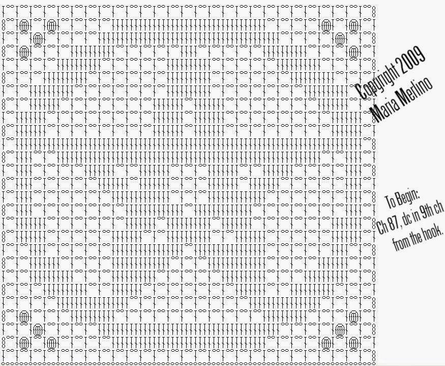 Filet Crochet: Crochet Filet Pentagram Free Pattern Chart Graph ...