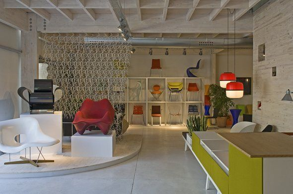 Office Furniture in Vitra Showroom by A-Cero Architects