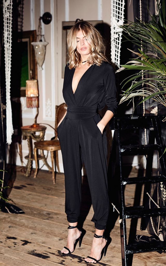 2f5aa5c2f231 Black Cowl Back Jodie Jumpsuit By Never Fully Dressed in 2019