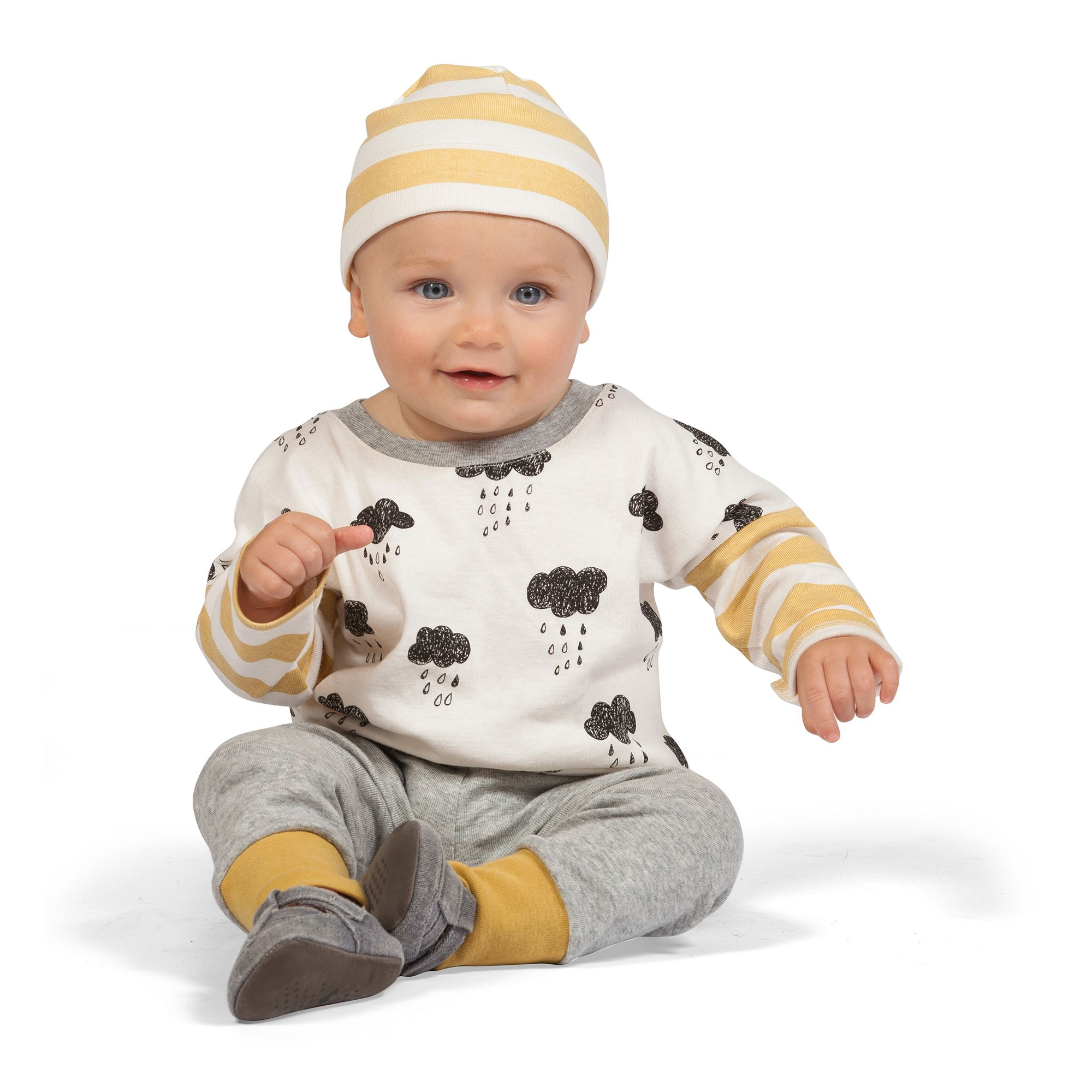 Cute Clouds Baby Boy Outfit from Tesa Babe