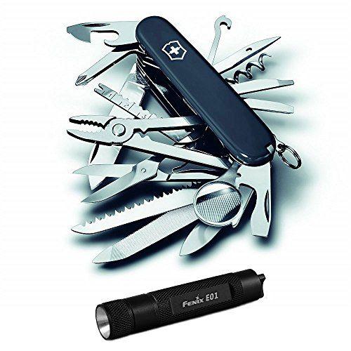 Victorinox Swiss Army Swisschamp Knife Black With Compact