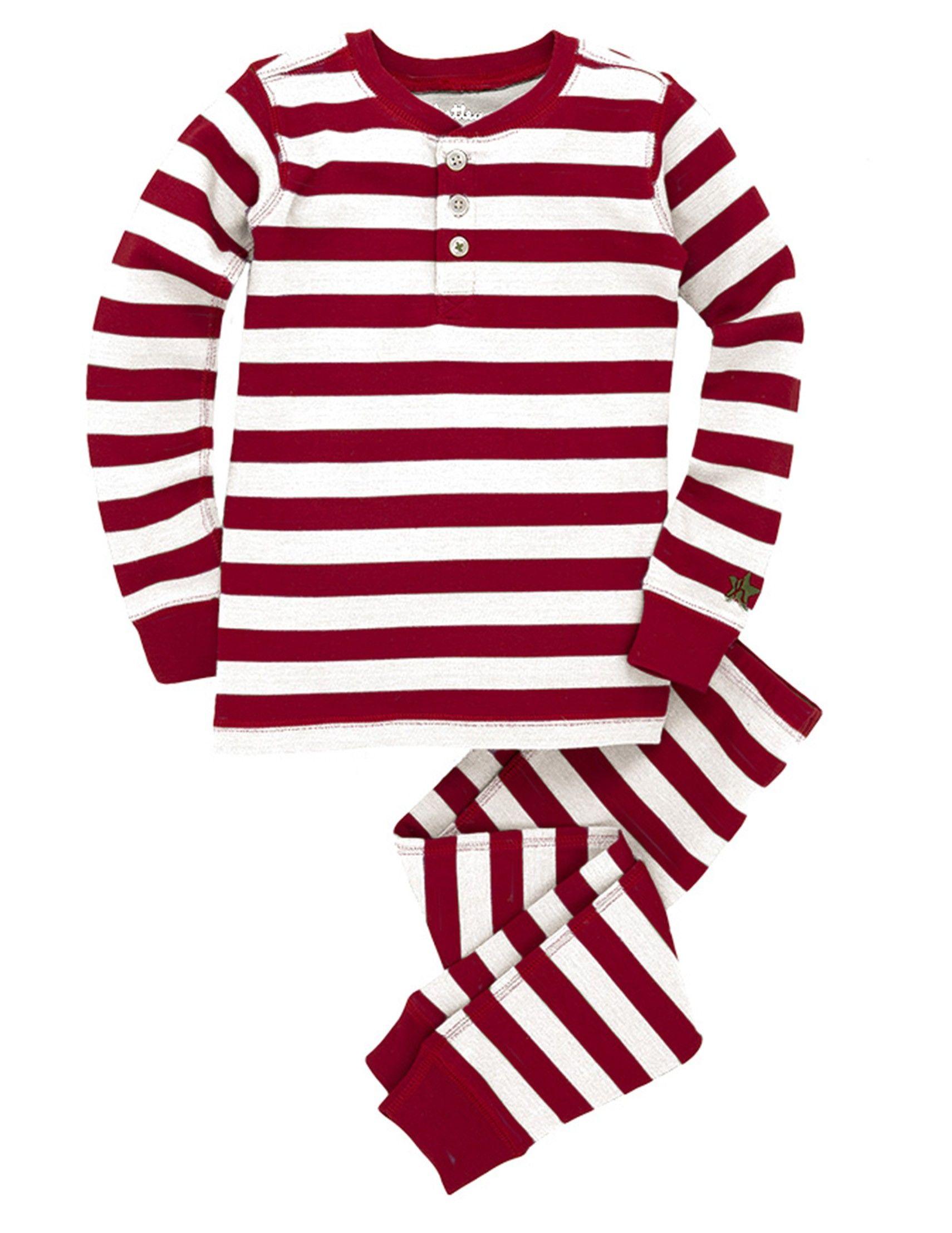 Candy Cane Stripes Kids' Overall Print Pajama Set Online