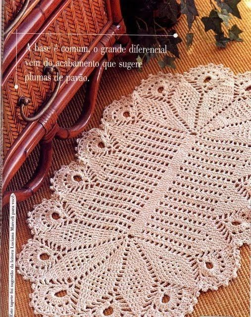 Aline crochê: Tapete oval   lindas idéias   Pinterest   Tapetes ...
