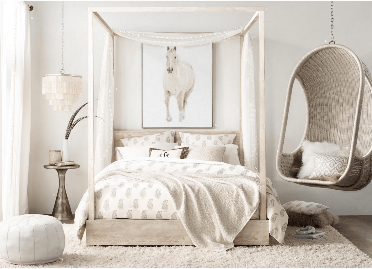 Get the Look for Less: Restoration Hardware Teen Bedroom #restorationhardware