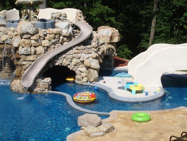 Backyard Pools With Slides 10 of the most incredible backyard waterpark designs | backyard