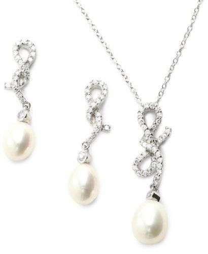 "Bella Pearl Knotted Jewelry Set Bella Pearl. $140.65. Necklace - 19.5"" x.4""/ Earrings - .6"" x 1.2"". Made in Canada"
