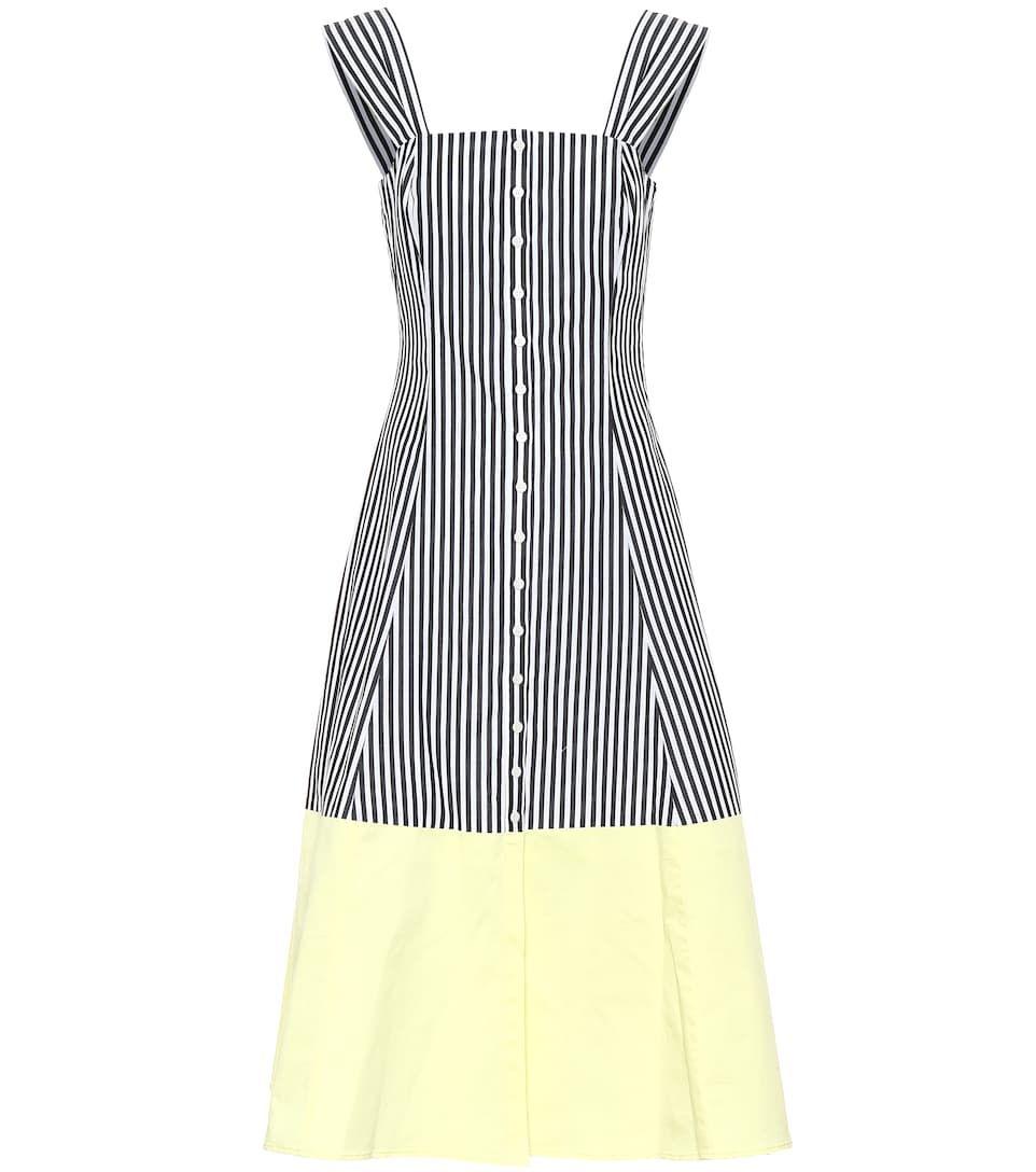 Ariel striped cotton midi dress cotton shirt dress