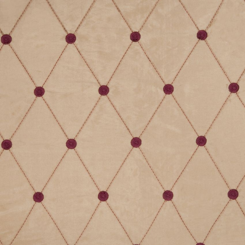 Brushed Gold Gold Burgundy Embroidery Diamond Crewels Drapery And