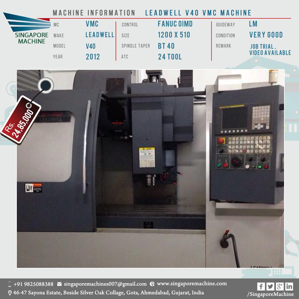 Captivating Used Leadwell V40 VMC Machine Available In Ahmedabad Machine: Leadwell V40  VMC Machine MC: VMC Make: Leadwell Model: V40 Year: 2012 Control: Fanuc  OIMD ...