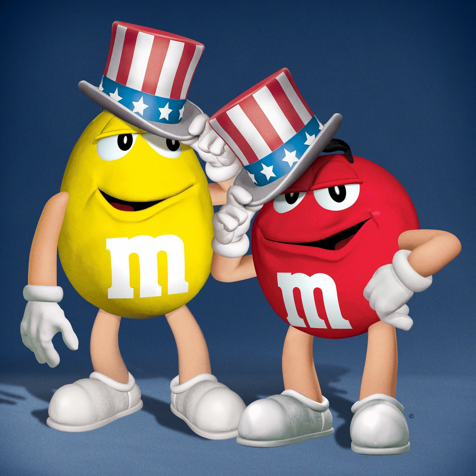 Red Yellow M M In Uncle Sam 4th Of July Hats M M Candy