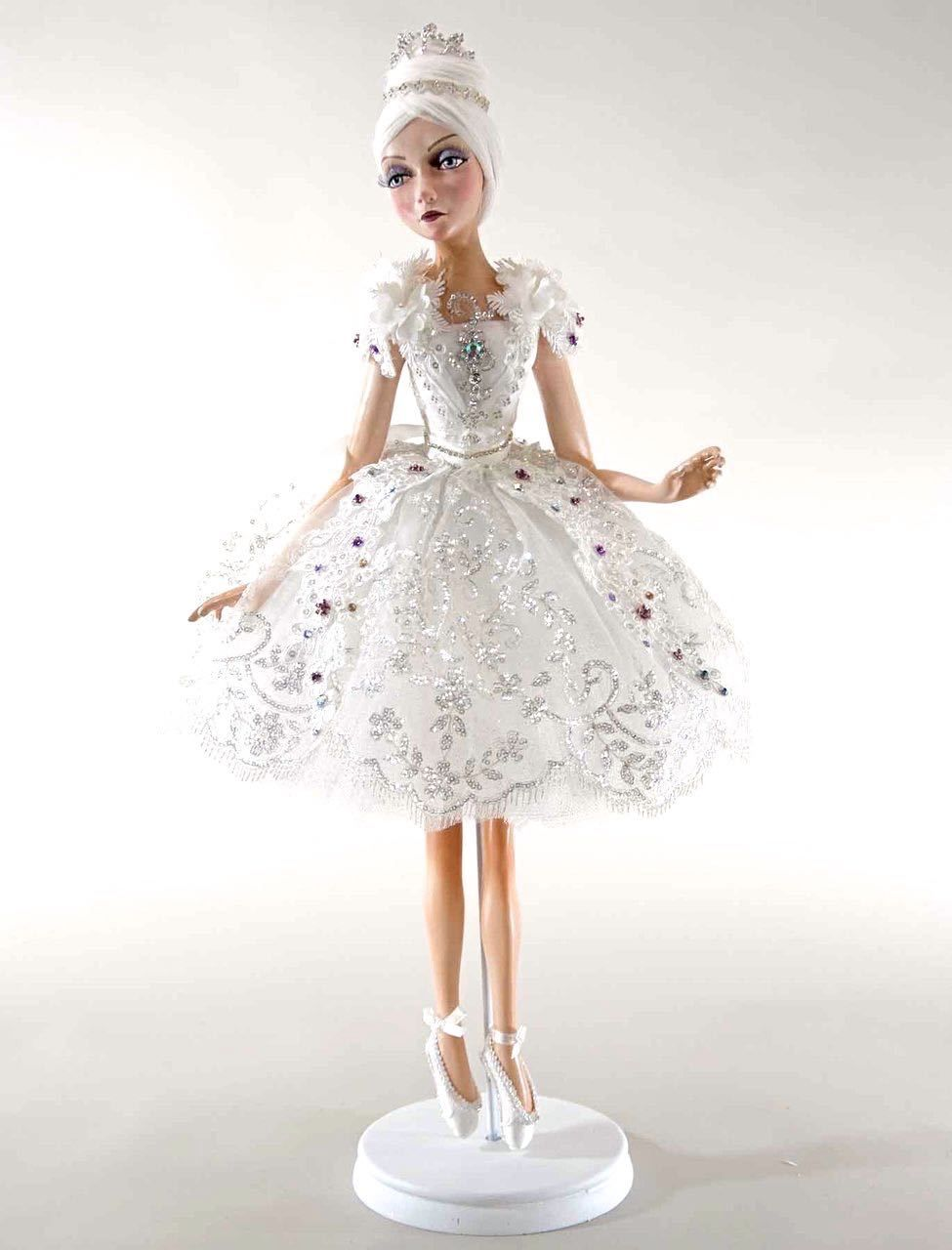 """Katherine's Collection Winter Wonderland Christmas Collection 32"""" Standing Ballerina Doll Free Ship"""