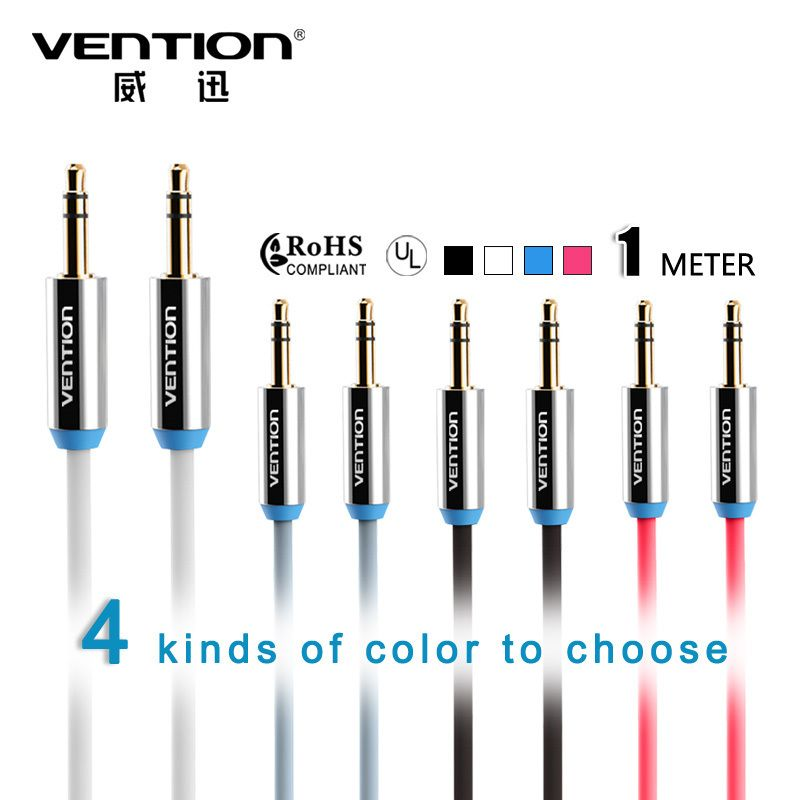 Cool Amp Fashion Vention Jack 3 5mm Audio Cable Gold Plated