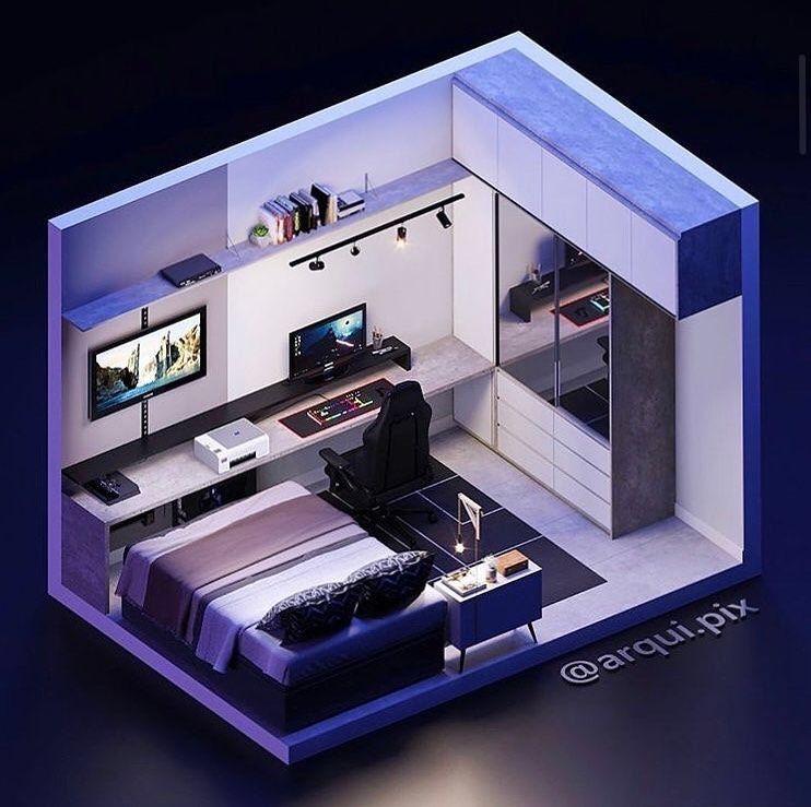 1 730 Curtidas 8 Comentarios 3d Gaming Room 3dsetupsprestige No Instagram Daily Gaming Bedroom Setup Small Game Rooms Home Room Design