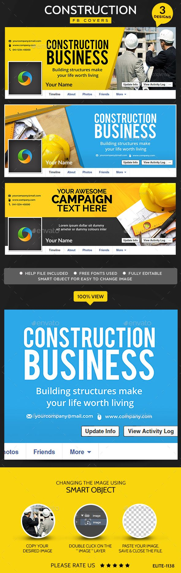 Construction Facebook Covers   Designs  Timeline Covers