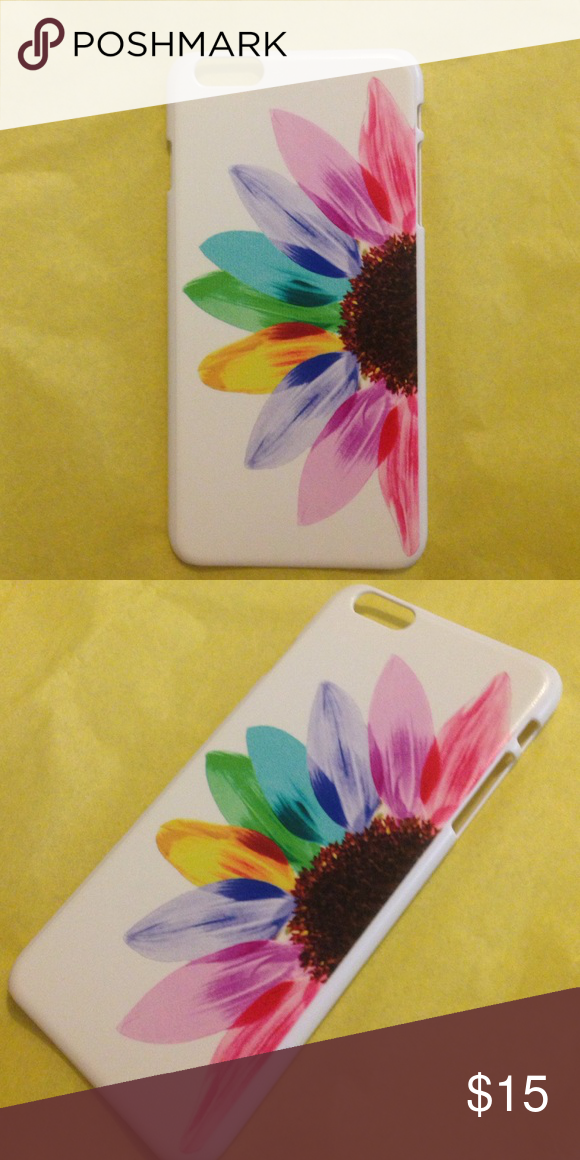 Flower iPhone 6+ case Hard plastic iPhone 6+ case. Brand new!! Accessories Phone Cases