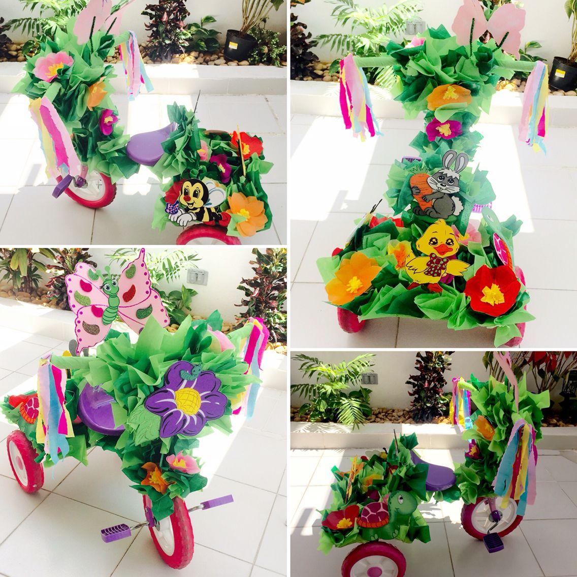 Triciclo decorado para primavera | Triciclos primavera ...