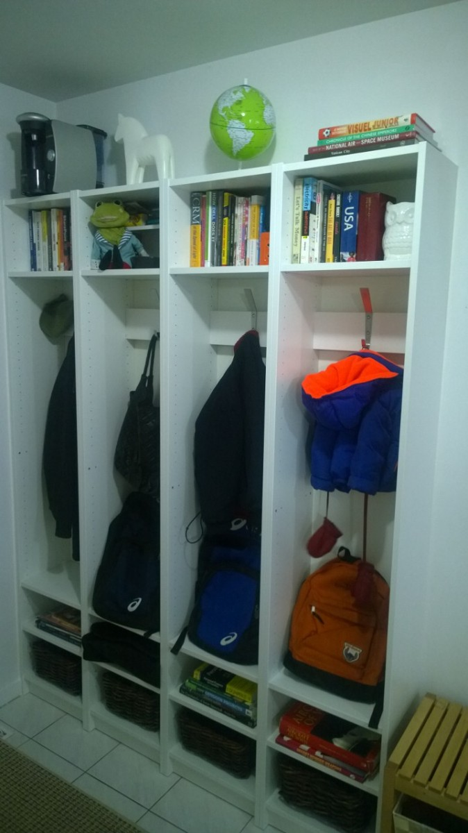 Built In Entryway Cubbies Using Billy Bookcases Ikea Billy Hack Billy Bookcase Ikea Lockers