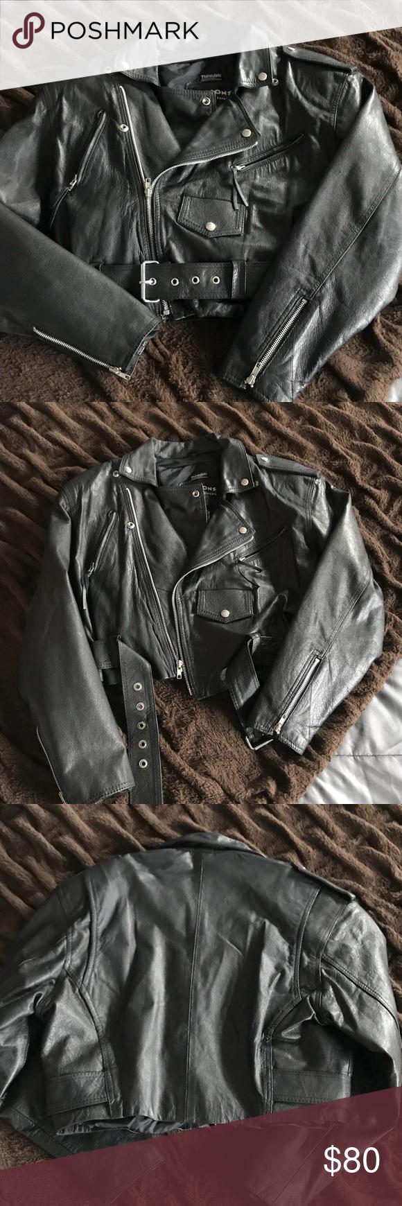 SALE🎉Vintage Wilson's Leather Moto Jacket Leather moto