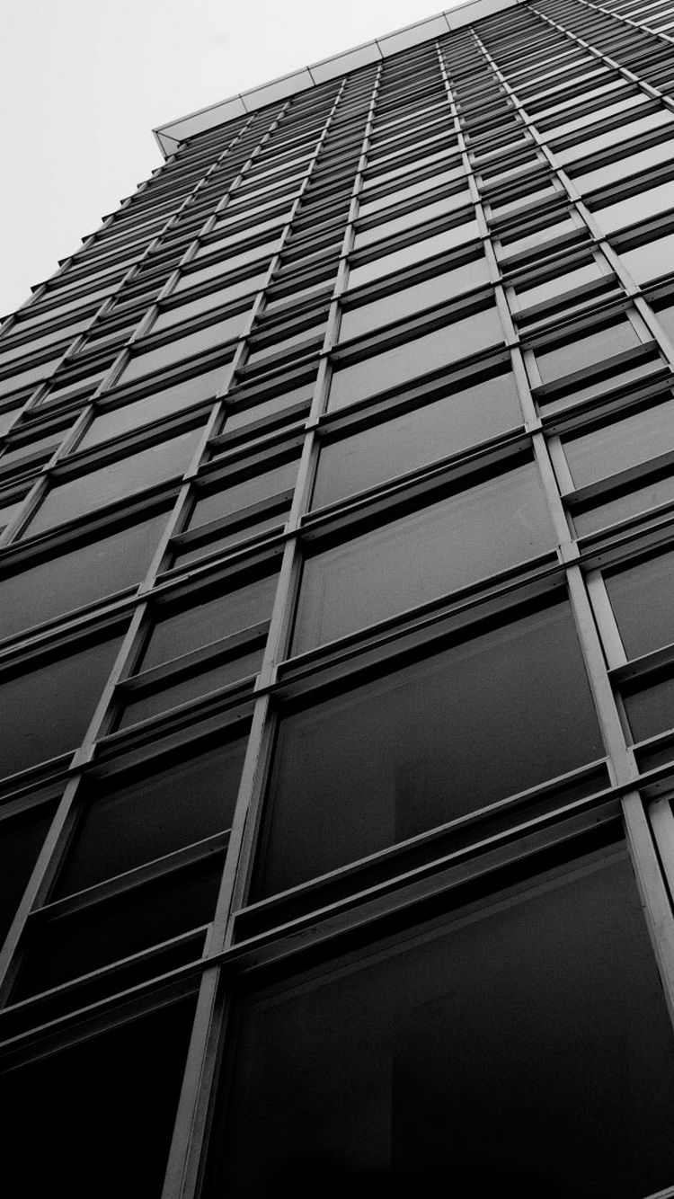 Office Building Windows Black White Iphone 6 Wallpaper Wallpapers