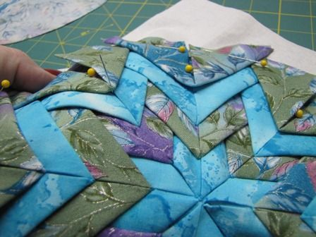 Folded Star Somerset Tutorial Fabric Origami Quilting Crafts Quilt Patterns