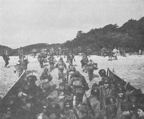 The troops arrive at Slapton Sands. The rehearsal had few similarities to the actual event on D-Day.