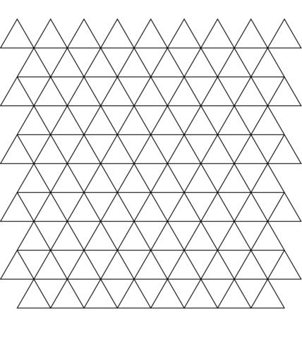 Teselado con Triángulos Dibujo para colorear. Categorías: Mosaicos ...