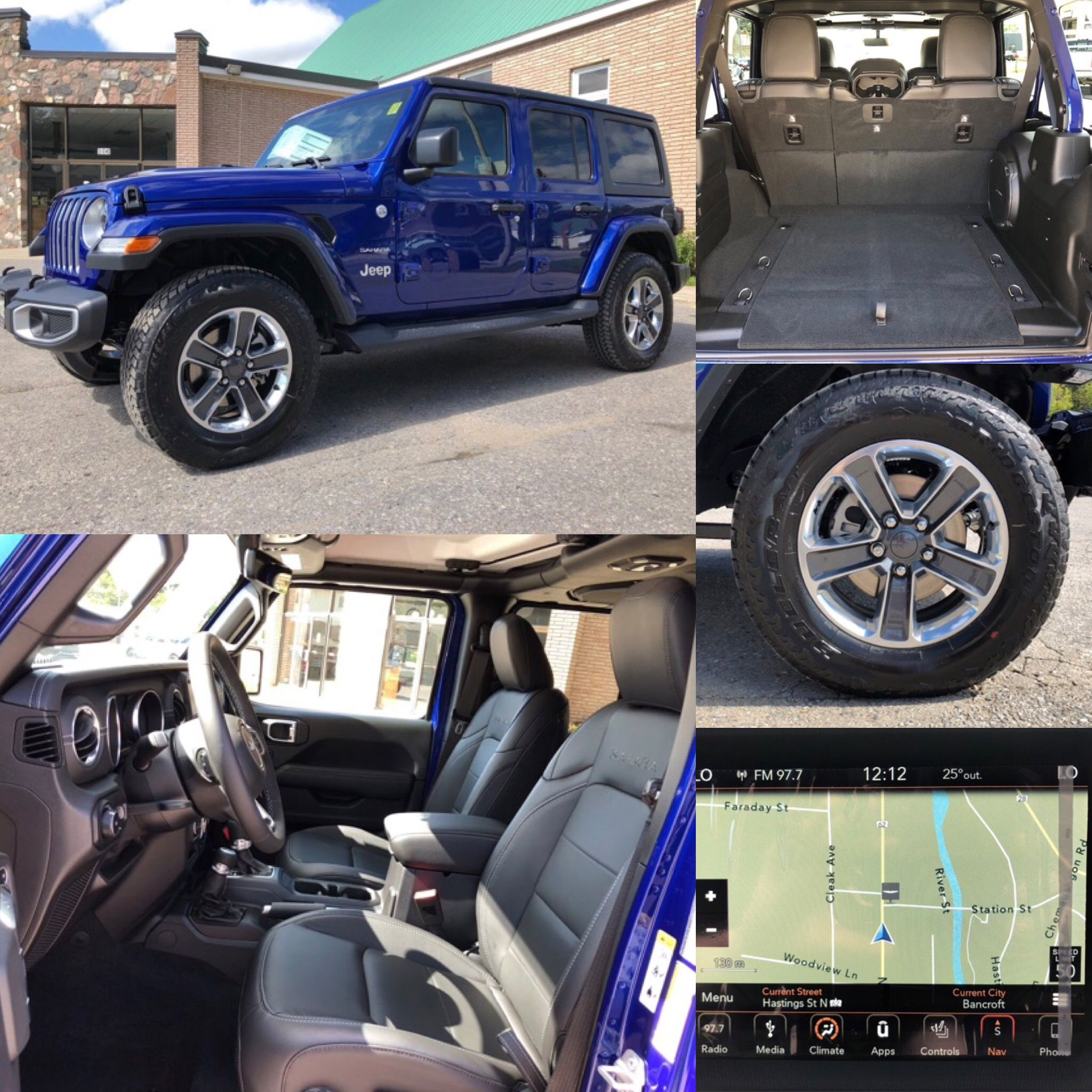 2019 Ocean Blue Metallic Jeep All New Wrangler Unlimited Sahara 4x4 Turbo Leather Nav Bluetooth Backup Cam Htd Blue Jeep Jeep Sahara Blue Jeep Wrangler