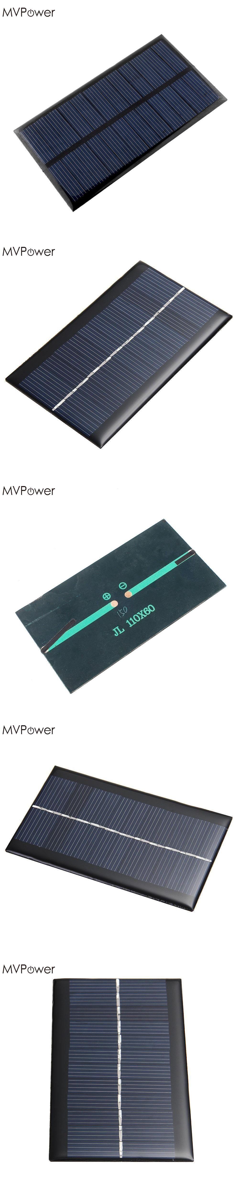 mvpower mini 6v 1w solar power panel solar system diy for battery