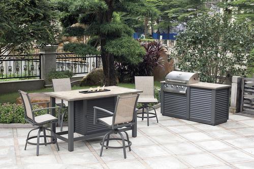 Backyard Creations Reg Galloway Bar Height Dining Patio Set Patio Set Patio Backyard