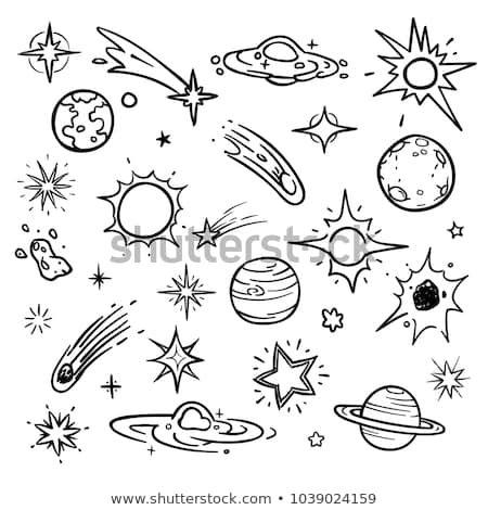 Vector de stock (libre de regalías) sobre Elementos vectoriales del doodle espacial. Estrellas1039024159