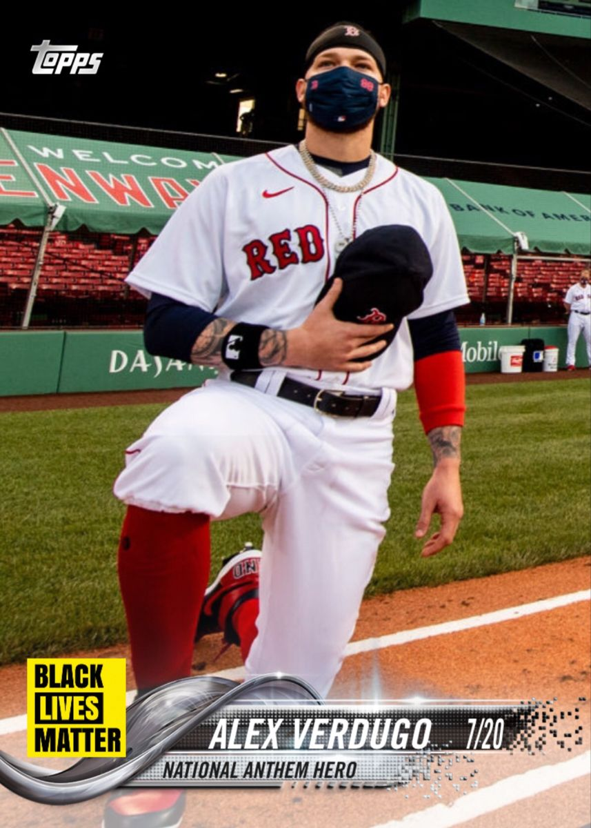 Alex Verdugo Boston Red Sox In 2020 Black Lives Matter National Anthem Sports
