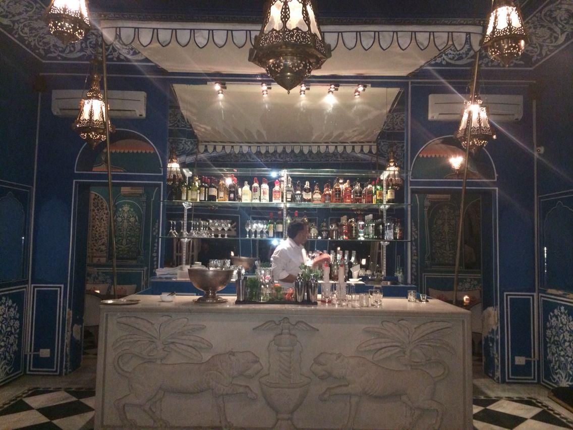 The very beautiful blue bar palladium jaipur