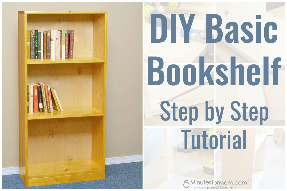 DIY Basic Bookshelf – How To Build A Bookcase For Beginners