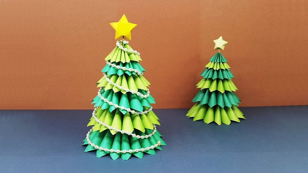 How To Make A Beautiful 3d Paper Christmas Tree Amazing Diy Crafts For Christmas Christmas Tree Paper Craft Paper Christmas Tree Christmas Crafts Diy