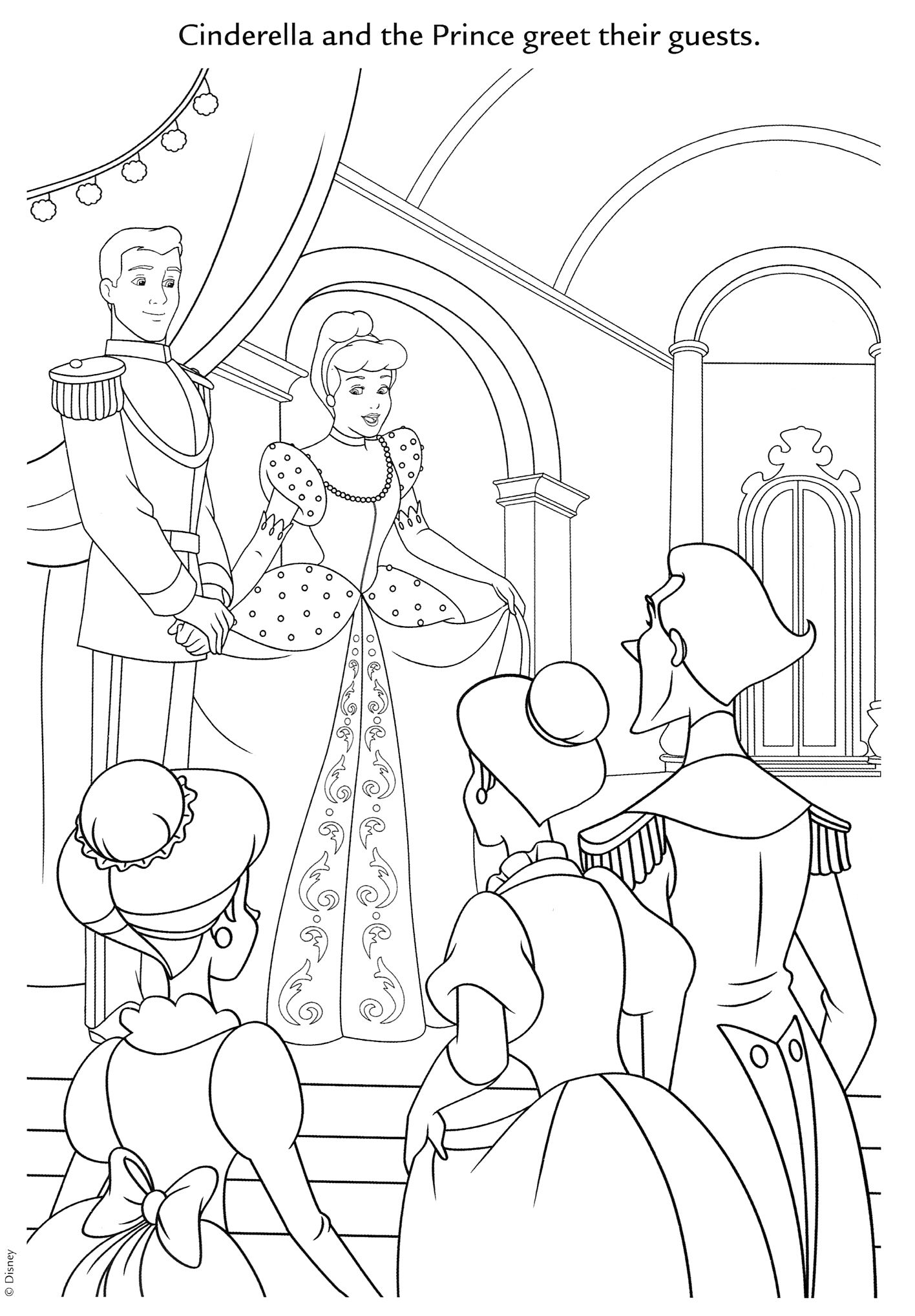 Disney Cinderella Coloring Page | Cinderella ~ Disney Coloring Pages ...