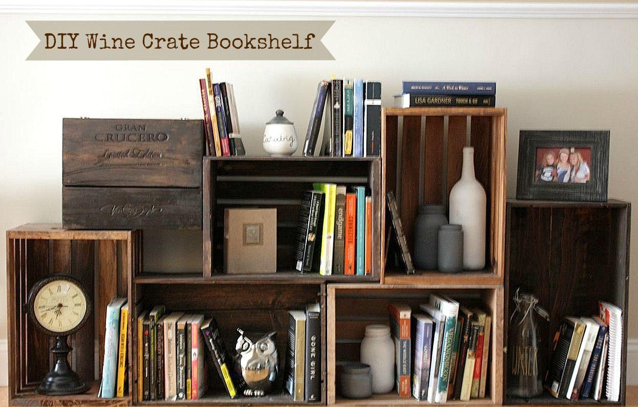 wood crate furniture diy. Distressd Wood Crate Book Shelf | Eliminate Clutter And Create Pedestrian-friendly Paths Furniture Diy Y