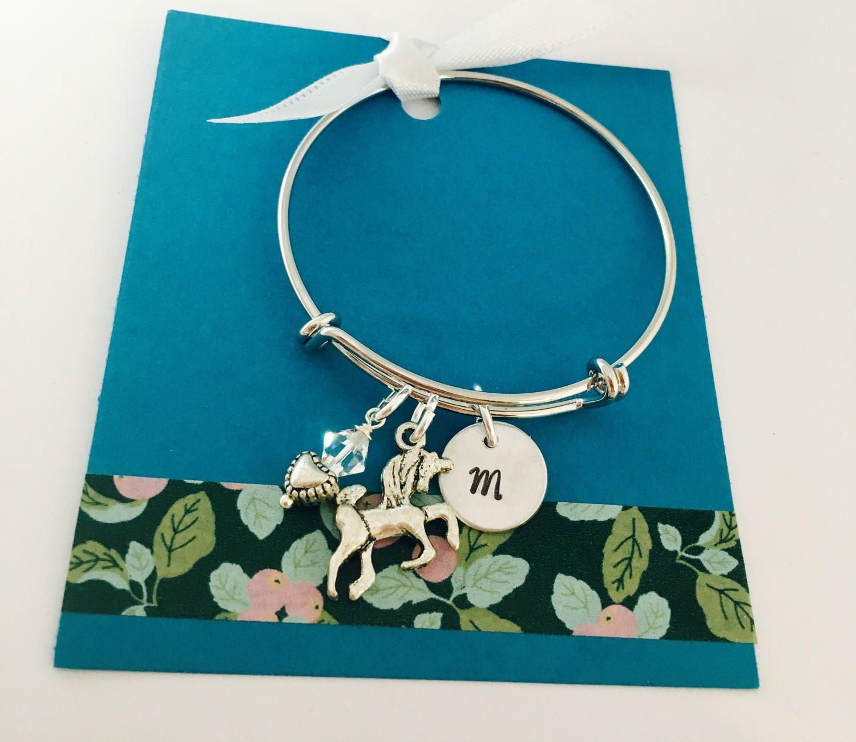Unicorn party favor unicorn bracelet personalized unicorn bracelet
