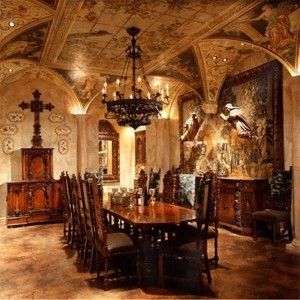 Italian Dining Room Renaissance Interior Design Home
